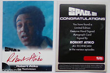 SPACE 1999 AUTOGRAPH CARD Robert Atiko as the technician RA1