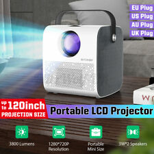 More details for new video projector 1080p portable mini 150ansi 3800 lumen home theater movie uk