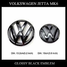Gloss Black Grille emblem&Trunk lid emblem Logo for Volkswagen Jetta MK6 (11-14)
