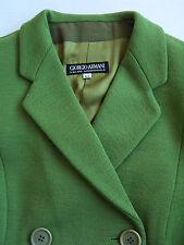 Giorgio Armani Womens Double Breasted Coat EU44 UK16 Large Green Vtg # ALS#266