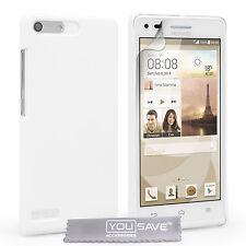 Huawei Ascend G6 Nuevo Blanco Hybrid plástico teléfono Funda Con Protector De Pantalla Gratis