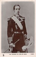 Spain Royalty King Alfonso Real Photo Antique Postcard (J29559)