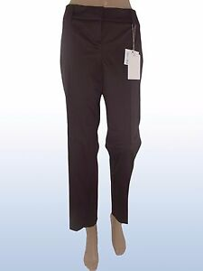 max mara i blues pantalone donna marrone affusolato taglia it 46 w 32