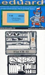 Eduard Fiat CR-42 Falco Parts Seatbelts Belts 1:48 Cockpit Pannel Kit New Boxed