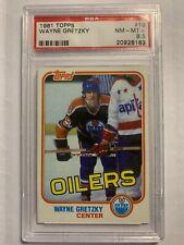 1981 Topps Wayne Gretzky #16 Hockey Card Edmonton Oilers Graded PSA 8.5!