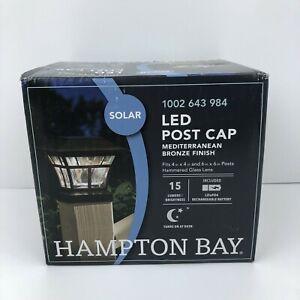 Hampton Bay Solar LED Post Cap Mediterranean Bronze Finish 1002 643 984 Open Box