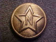 RARE ANTIQUE RAILROAD STAR WITH LETTER N 9/16 BRASS UNIFORM BUTTON AM RY SUPPLY