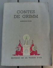 Contes de Grimm (iil. Mar) éd. Toison d'or 1942