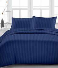 """Fitted Sheet , 1000 TC, Drop 15""""Inch, Queen Size- Navy Blue Stripe"""