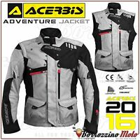 ACERBIS ADVENTURE MOTORCYCLE WATERPROOF ENDURO TOURING ARMOUR JACKET GREY SZ. M