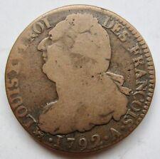 France First Republic 1792-A Bronze 12 Sols Louis XVI Paris Mint