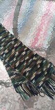 Hand Crochet Boys Camouflage Yarn Knit Handmade Fringed --LOOK!!!!
