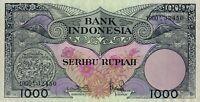 Vintage Banknote UNC Indonesia 1959 Djakarta 1000 Rupiah Pick 71b Crisp