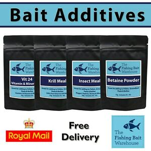 Fishing Bait Powdered Additives - Carp Fishing - Bait Making - Boilies - Krill