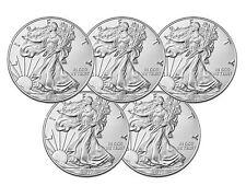 Lot of 5 - 2017 $1 1oz Silver American Eagle BU