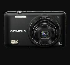 NEW Olympus D-745 Black Digital Camera 14.0 MP HD-720p Movie 5x Zoom + 8G SDHC