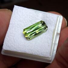 Top-AAA grüner-TURMALIN-Oktagon-Scherenschliff, 3,54 ct, VS