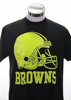 CLEVELAND BROWNS NFL Football Black Shirt Men's Size XL Neon Dog Pound Ohio New