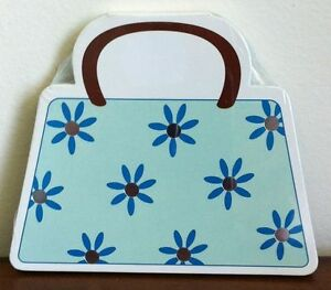 New Flower Handbag Shaped Notepad Writing Notebook Great for Shopping List Small