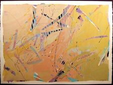 """Sally Anderson """"Symphony Series #14"""" Signed Original Acrylic Painting Paper OBO"""