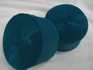 2 x Turquoise Crepe Streamers Party Decorations Craft - 2 x 50 Meters X 5cm