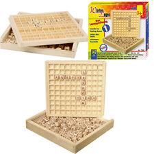 Lernspiel Wörter legen ABC Schreiben + Lesen lernen Buchstaben Spiel Holz Kinder