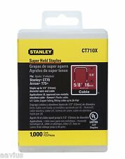 "Stanley Super Hold Wide Crown 1/2"" Electrician's 5/8"" Staples for T75 Arrow CT70"
