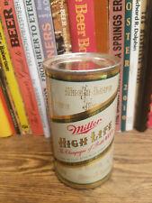 Miller High Life 12oz Flat Top Beer Can  High Grade Small Logo