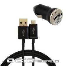 Cargador + cable negro para Motorola Google Nexus 6 Micro USB coche de mechero