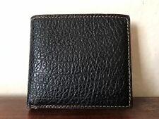 Mens Black Leather Coach Wallet Slim BiFold Double Bill F12021 New**
