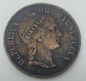 1858 Venezuela 1 Centavo Copper