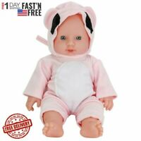 12inch Baby Dolls Handmade Full Vinyl Silicone Real Newborn Girl Doll Reborn Toy