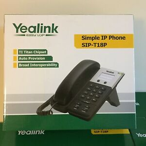 Yealink SIP-T18P Simple IP Desk Phone SIP/VoIP/PoE/Asterisk Handset UK