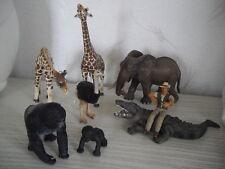 Schleich Tiere Wild Life Zoo Sammlung Safari Ltd Giraffe Gorilla Ranger Elefant