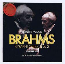 BRAHMS CD SYMPHONIES 2 & 3/ GUNTER WAND / LIVE RECORDINGS
