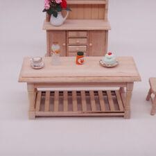 1:12 Mini Miniature Furniture Wooden Tea Table Retro DIY Dollhouse Decor Code