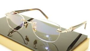 Authentic Paul Vosheront PV362 C1 23KT Gold Plated Eyeglasses Frame Italy Made