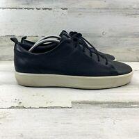 Men's ECCO Danish Design Black Leather Lace Up Sneakers Shoes Size US 11/EU 45