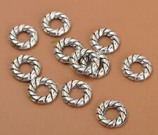 50pcs tibetan silver Donut Round Ring Small spacer beads bead  8mm A3340