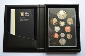 2012 Proof Set Royal Mint 10 Coin Set Box & COA