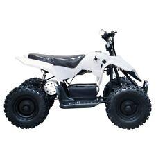New White Kids Electric Atv 4 Wheeler 24V 350W Mini Quad Motor Bike 6+ Year-old