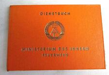 Original DDR Dienstausweis der Feuerwehr mit MdI Nummer 0038296 Blanko Top!