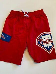 Philadelphia Phillies Trunks Youth 14/16 New MLB Baseball Fan Swimwear