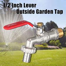 1/2'' Lever Outside Garden Tap Faucet Easy Quarter Turn Off/On Manual Long Handl