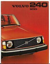 Volvo 240-Series 1974-75 UK Market Sales Brochure 244 245 DL GL DLE