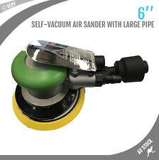 "6"" Air Grinder Polisher Sander Pneumatic Angle Polishing Vacuum Hook Loop Pad"