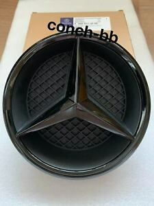 FRONT GRILLE STAR with Base For MERCEDES-BENZ E Class W213 W238 2016+Gloss Black