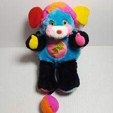 "Vintage Popples Rock Star Punkster 1986 Stuffed Plush Toy 10"" Mattel"