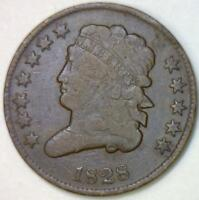 1828 Half Cent; C-2, Twelve Stars; VG/F; Nice Smooth
