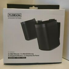 Flexson Wall Mounts S1-WMX2 for Sonos One, One SL and Play:1 - Black (Pair)